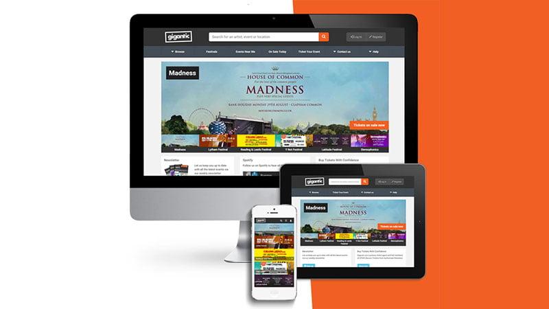New Gigantic Tickets website, gigantic.com