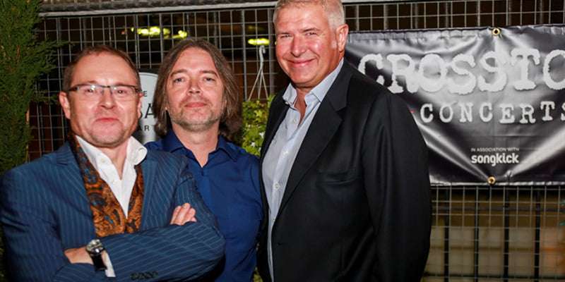 Crosstown Management founders Paul Hutton, Conal Dodds and Fraser Duffin (L–R)