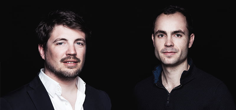 Weezevent founders Pierre-Henri Deballon (left) and Sebastien Tonglet