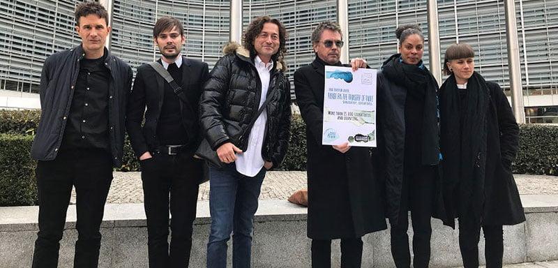 Jean-Michel Jarre leads a Cisac delegation to the EU parliament