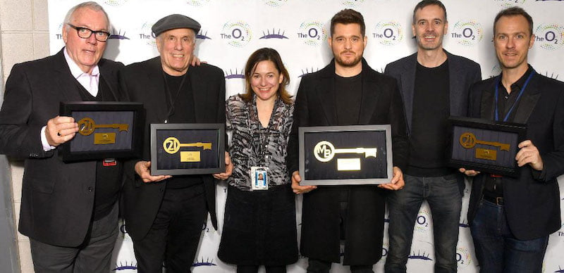 Team Bublé receive their keys to the O2