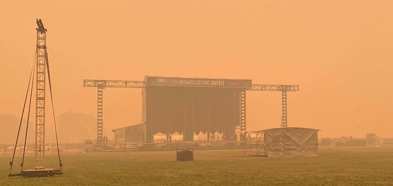 Live music hit by Australian bushfires