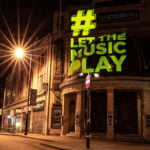 Brixton Academy lit up for #LetTheMusicPlay on 2 July