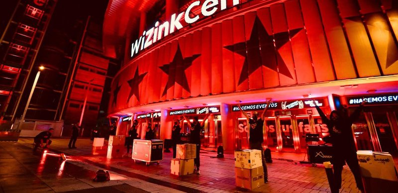 WiZink Center Madrid staff on 'red alert' (alerta roja)