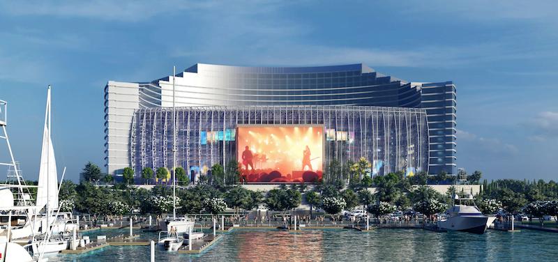 A rendering of the UMusic Broadwater Hotel in Biloxi